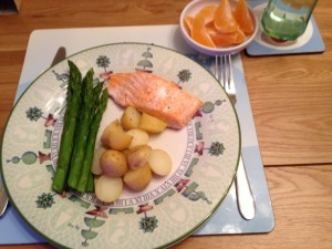 Poached Salmon and Asparagus