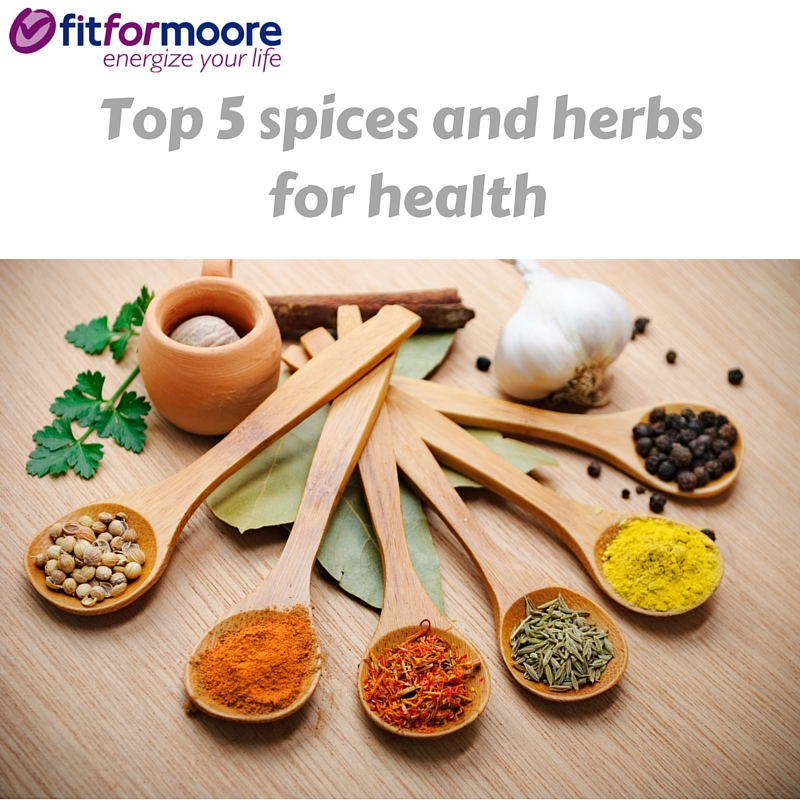 Top 5 spices and herbs for health